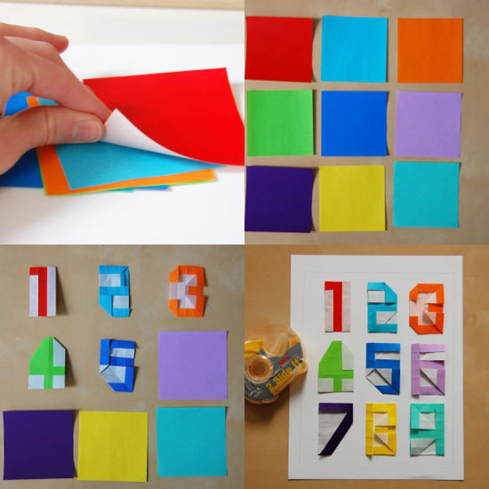 Origami-numbers-mosaic