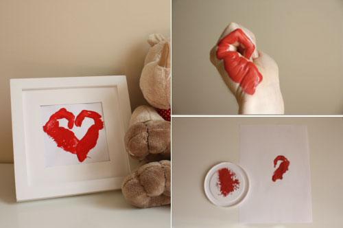 Hands print Heart