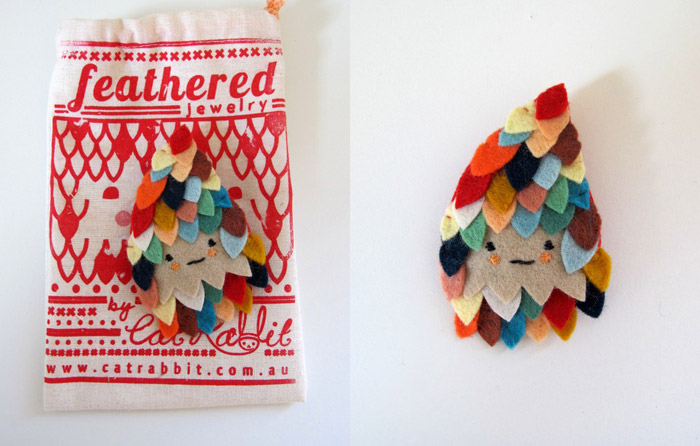 Feathered-brooch