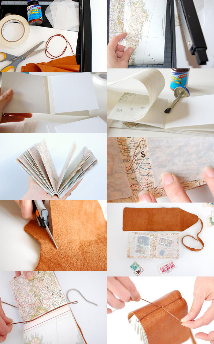 How To Make A Leather Book Cover ~ Bookhoucraftprojects project diy mini stamp