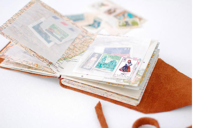 Bookhoucraftprojects Project 81 Diy Mini Stamp Collecting Book