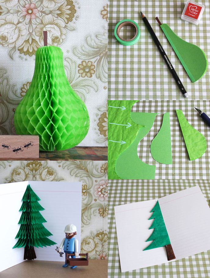 Crafts Decorate With Honeycomb Paper