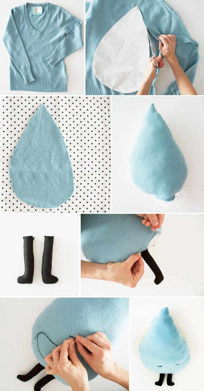 Rain-drop-pillow