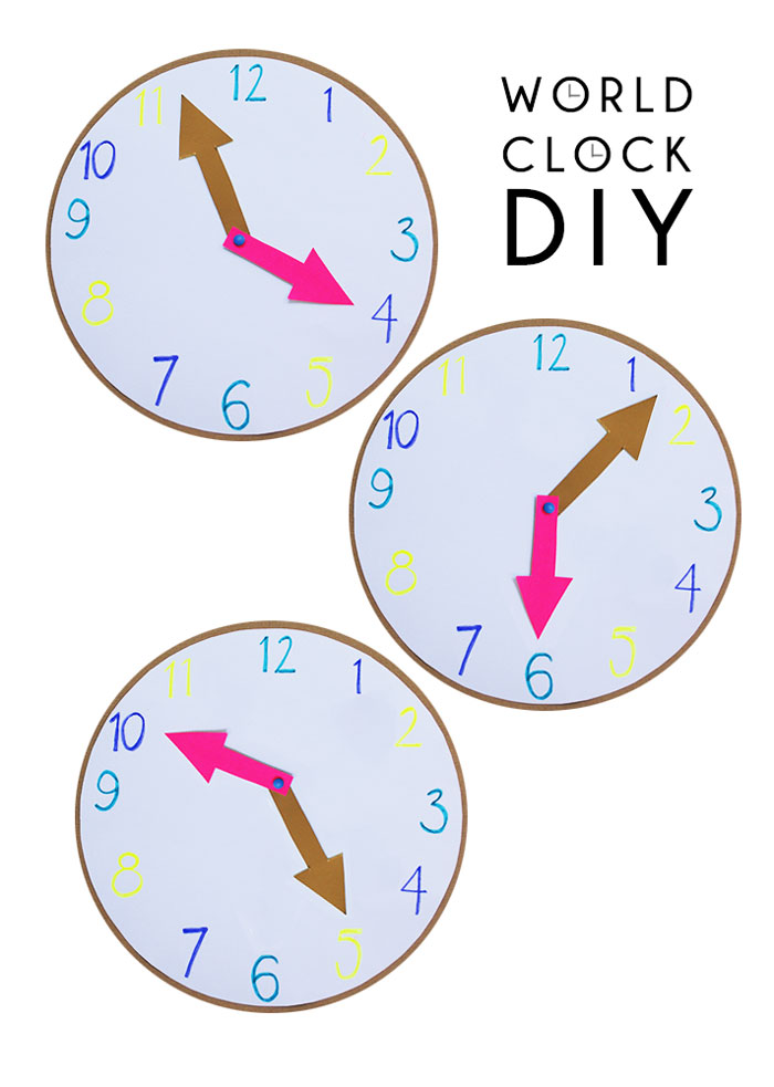 Bloesem Kids | Travel craft projects: World Clock DIY by Anouk van der El of Make History