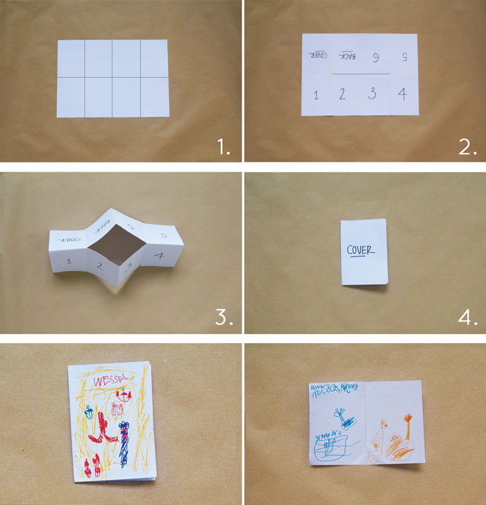 Bloesem Kids | Travel craft projects: Single sheet paper story book DIY by Anouk van der El of Make History