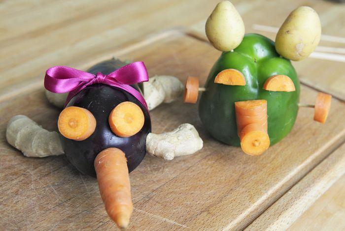 Bloesem Kids | Make your own Veggie Creatures! Kids craft by Yuliya of Yufrukt