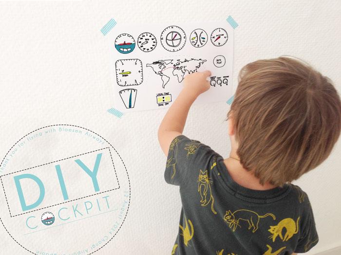 Bloesem kids | DIY kids craft travel series- DIY Cockpit by Anouk van der El ( free cockpit printable)