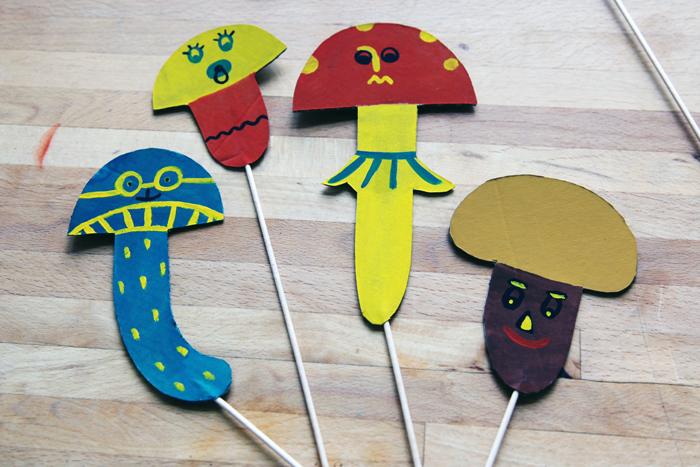 Bloesem Kids | Make your Mushroom Theatre! Kids craft by Yuliya of Yufrukt