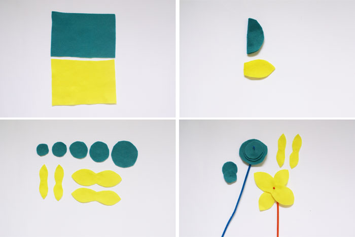 Bloesem Kids   Travel crafts series: DIY felt flowers by Anouk van der El