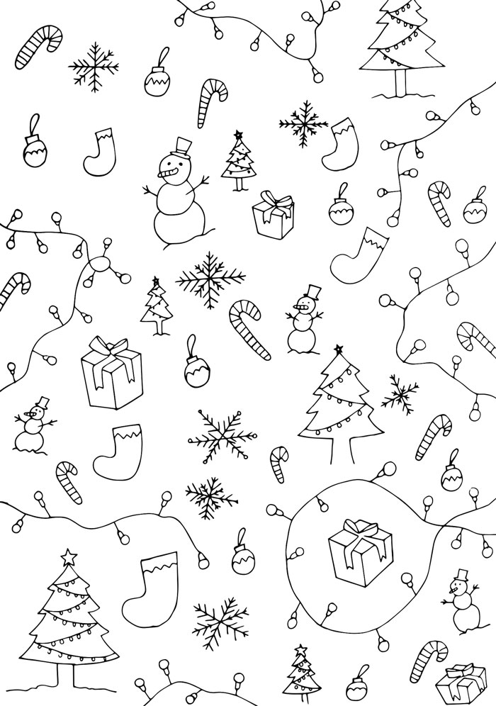 Bloesem kids | Color-your-own Christmas wrapping paper (printables)