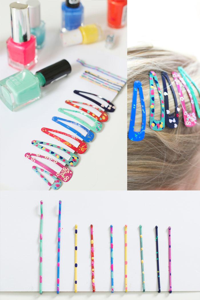 Bloesem kids | DIY nail polish hair clips