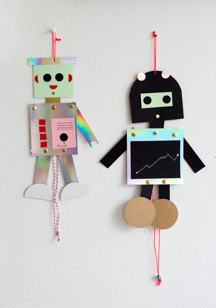 Bloesem kids | Kids craft - diy robot puppet