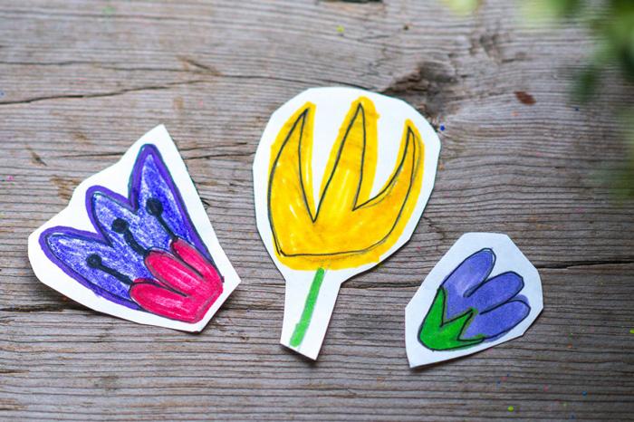 Bloesem kids craft | Nature inspired flower wristlet