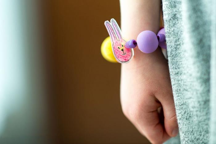Bloesem kids craft   Shrink art animal necklace DIY