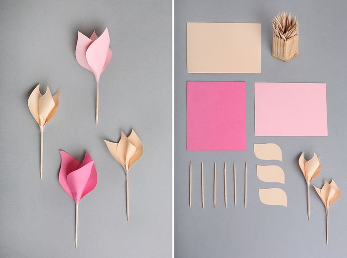 Making paper flowers intro bloesem kids craft making paper flowers in spring mightylinksfo