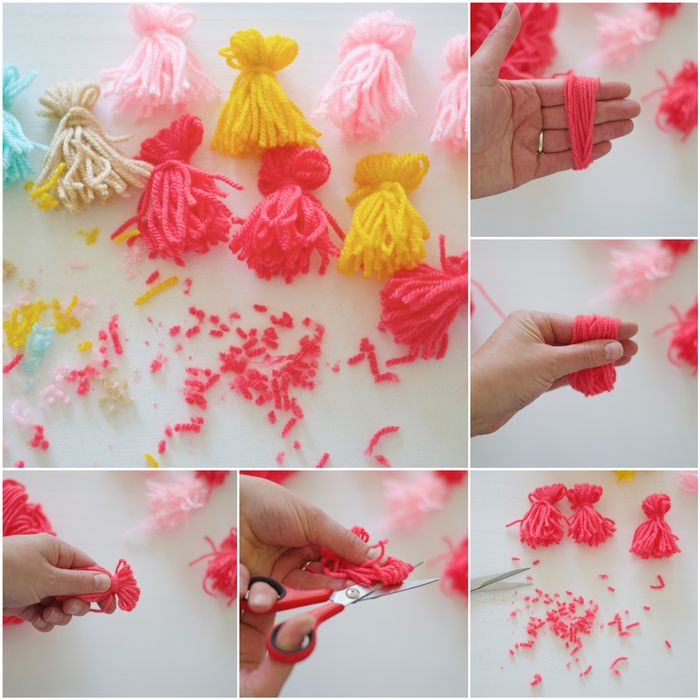 Bloesem kids craft | Tassel bunting DIY