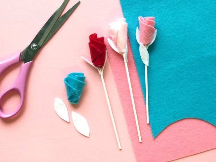 Bloesem kids craft | Mother's day felt tulips
