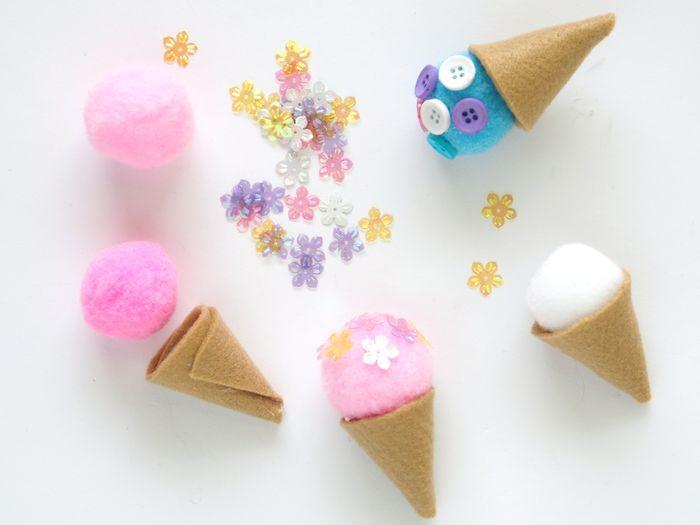 Bloesem kids craft | DIY Felt Ice Cream Cones