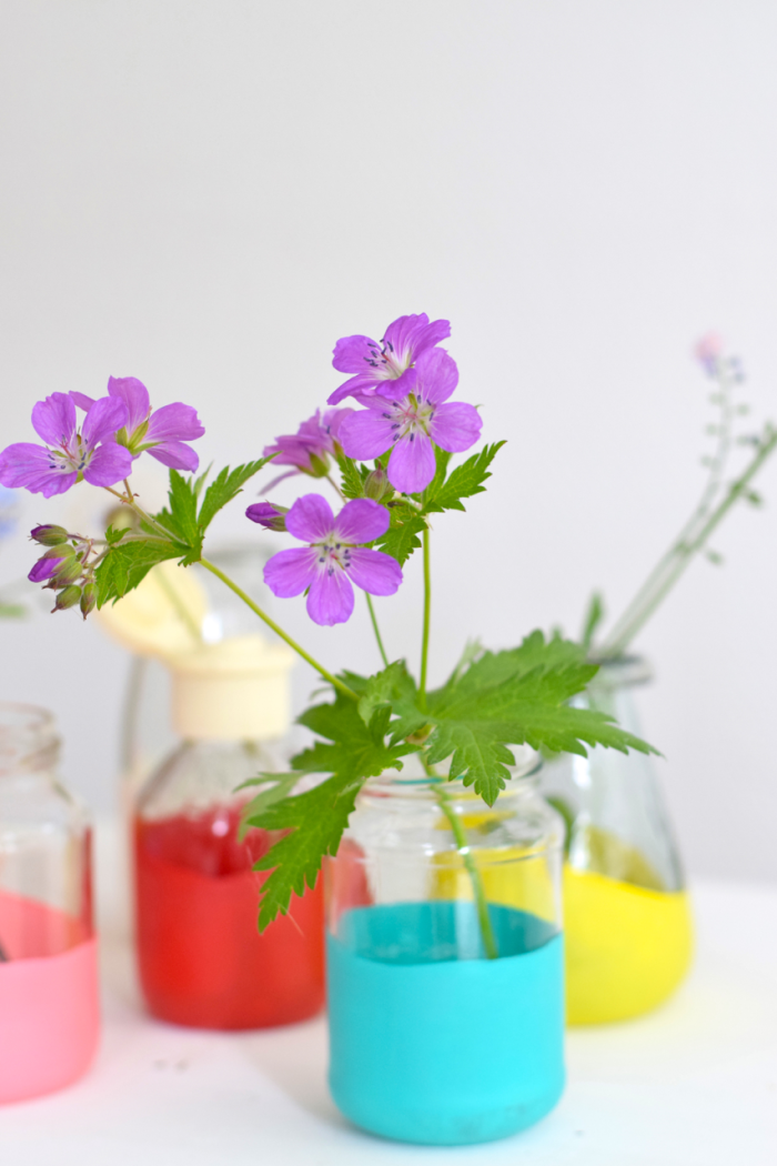 Bloesem kids craft | DIY easy summer vases