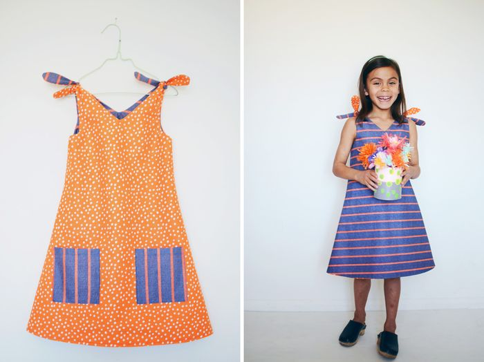 Bloesem kids | Sweet tie reversible dress DIY from Bloesem Gazette 4 kids issue