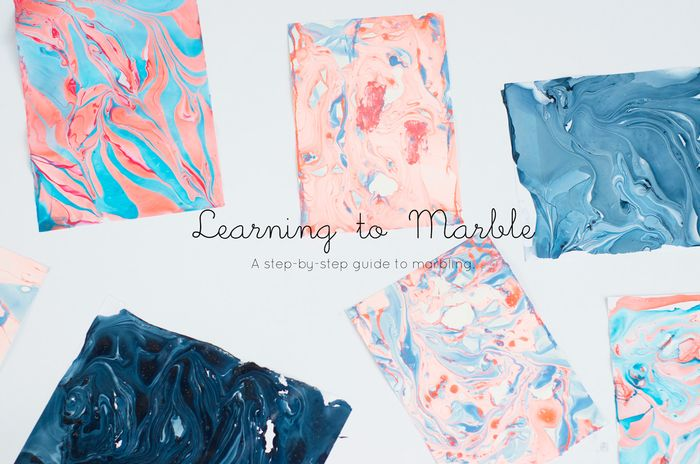 Bloesem kids crafts | Learning to marble