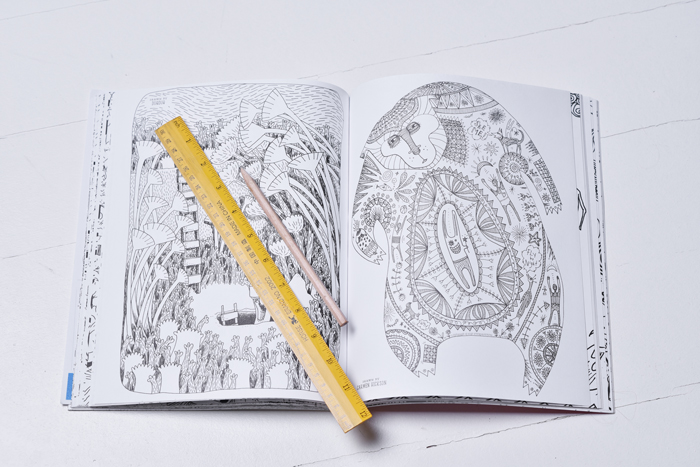 Bloesem kids | Doodles Anonymous epic colouring book