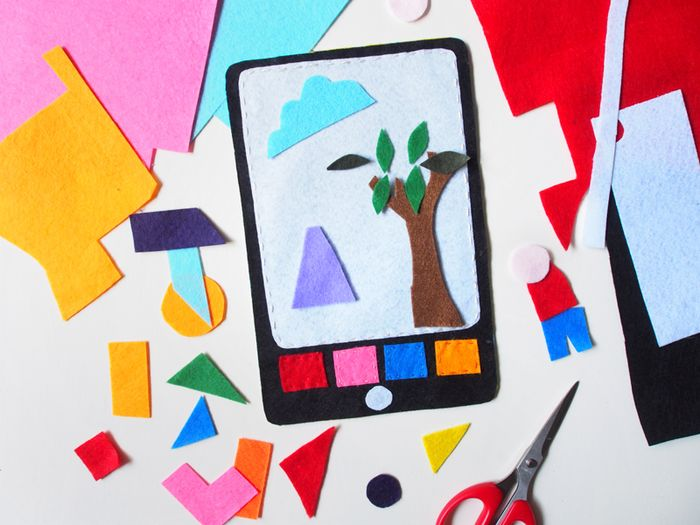 Bloesem Kids | DIY project:Tablet Felt Picture Board contributed by Laura Murray