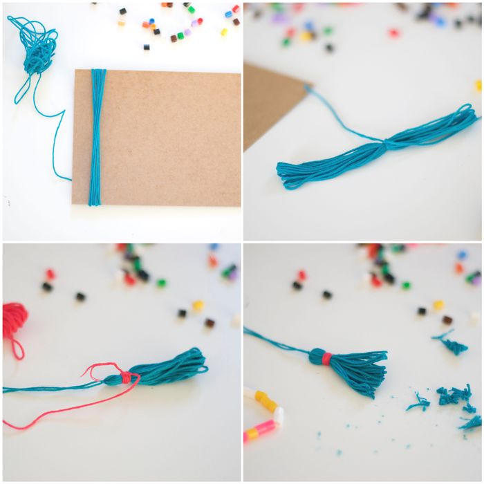 Bloesem Kids | DIY Hama bead and tassel necklace