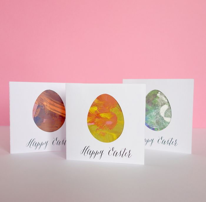 Bookhoucraftprojects project 187 marbled easter cards bloesem kids easter card diy m4hsunfo Image collections