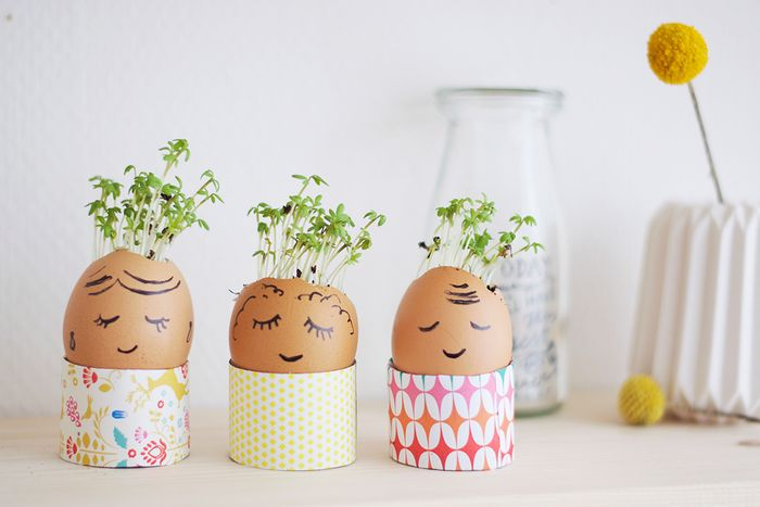 Bloesem kids craft | Egg shell planters for Easter