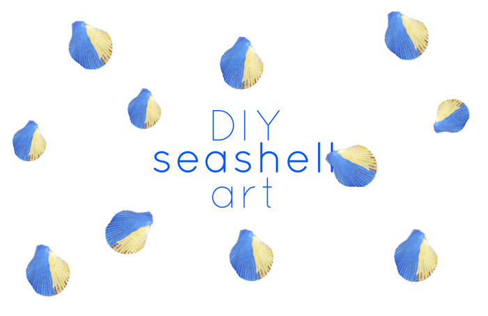 Bloesem kids craft | Beach DIY: Seashell art