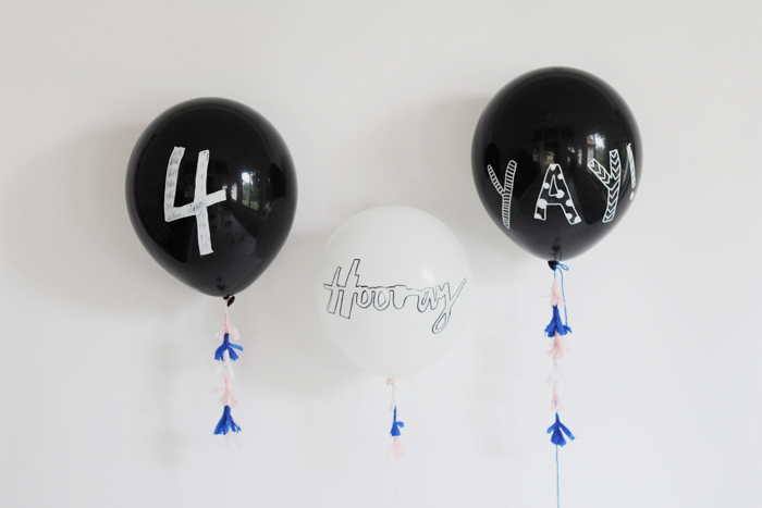 Bloesem kids craft| Hand illustrated party balloons