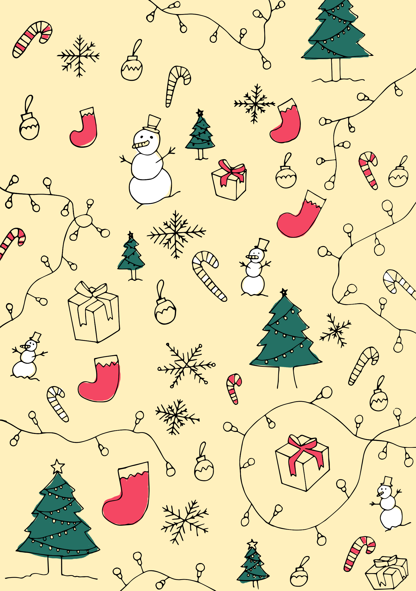 Color Your Own Christmas Wrapping Paper Printables Intro